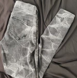 Express mid rise jegging jeans tie dyed sz.0 R